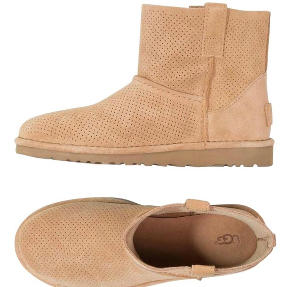 f4f95a9a733 UGG Classic Unlined Mini Perforated Boot Tawny 7